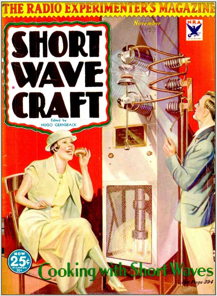 Picture Of Short Wave Craft Magazine 1933 Cover