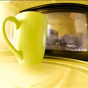 Picture Of Yellow Mug In Microwave